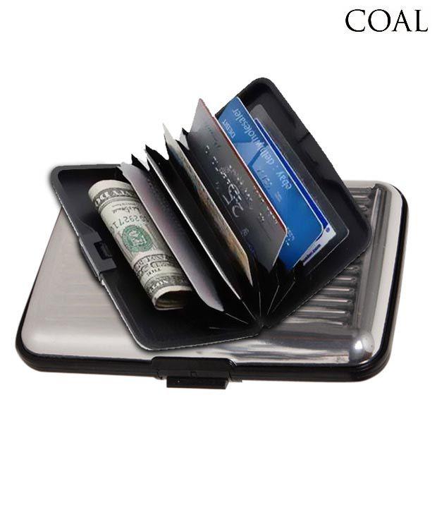 Coal Elegant Silver Hard Case Aluminium Card Wallet