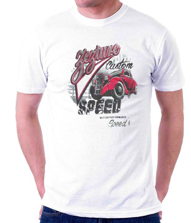 Zezture White Custom Speed Men's T-Shirt