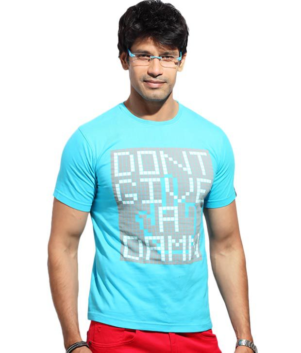 The Indian Garage Turquoise Attitude T-Shirt