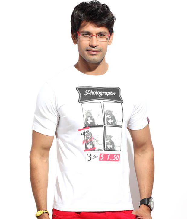 The Indian Garage White Photographs T-Shirt