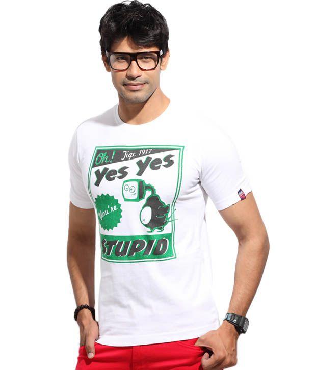 The Indian Garage White Stupid T-Shirt