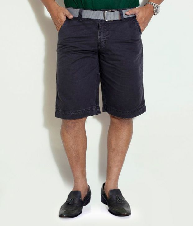 Globus Grey Cotton Shorts
