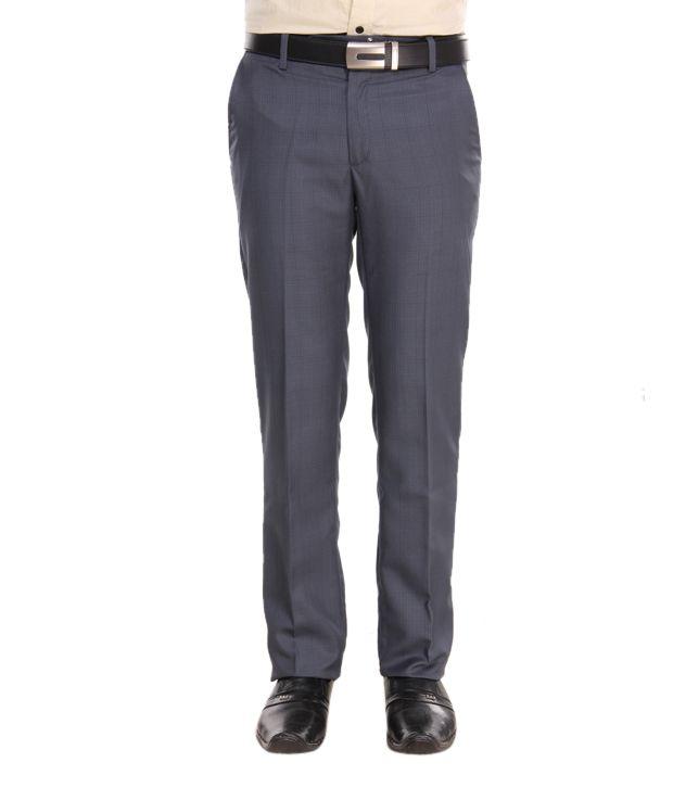 Alano Classy Grey Men Trouser