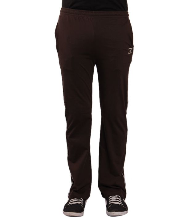 Adam n' eve Men's Brown Track Pants