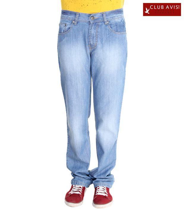 Club Avis USA Sky Blue Men's Jeans