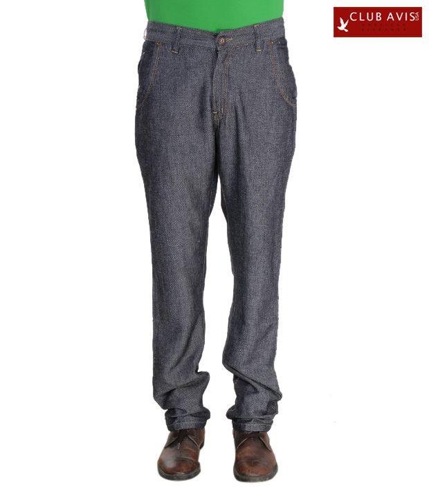 Club Avis USA Blue Slim Fit Men's Jeans