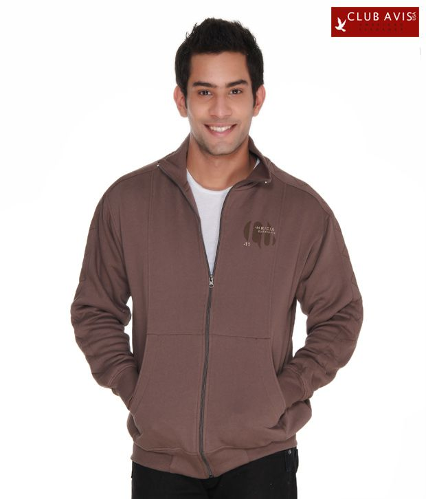 Club Avis USA Light Brown Men Sweatshirt