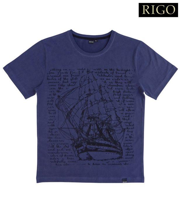 Rigo Navy Blue Voyage T-Shirt