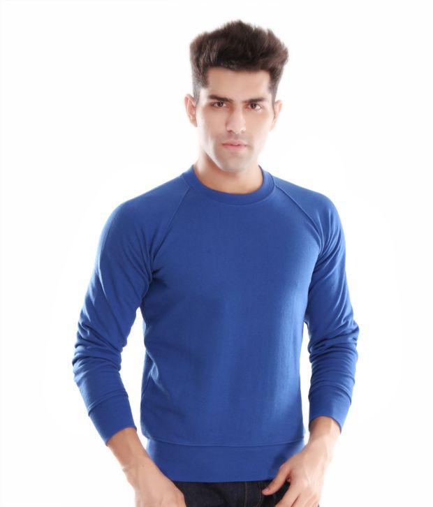 Casual Tees Royal Blue Men Sweatshirt