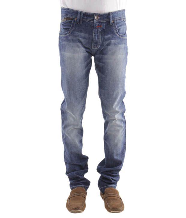 Jogur Stylish Blue Slim Fit  Jeans