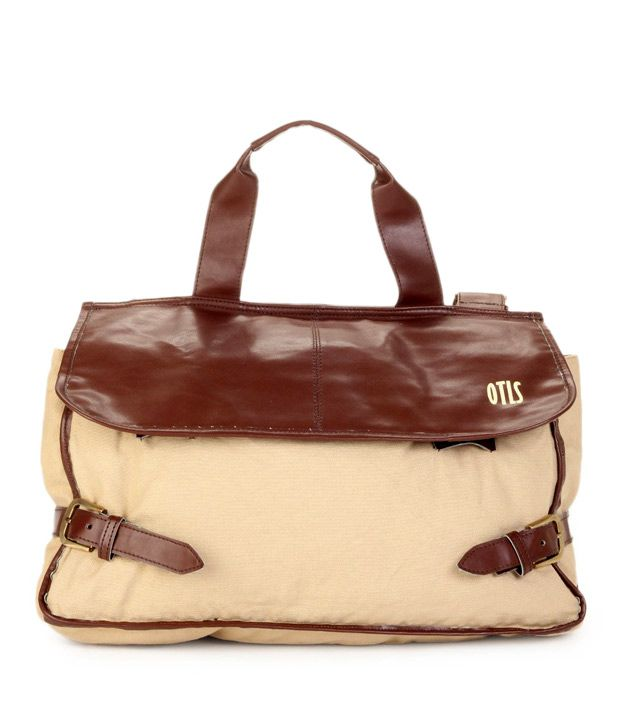 OTLS Beige & Brown Messenger Bag