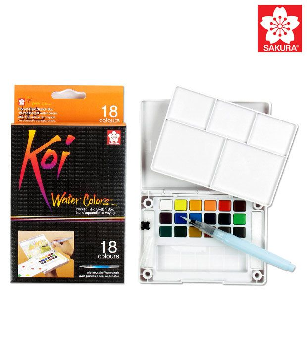 Sakura Koi Pocket Field Sketch Box - 18 Colors Buy Online At Best Price In India - Snapdeal