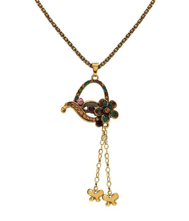 Youshine Ornate Multi-coloured Necklace