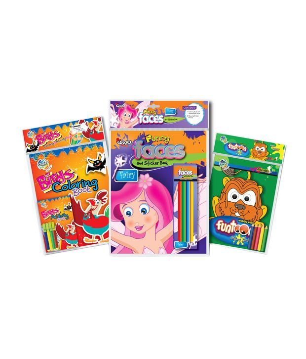 Gogo Kids Cage Activities Coloring & Sticker book Combo Pack