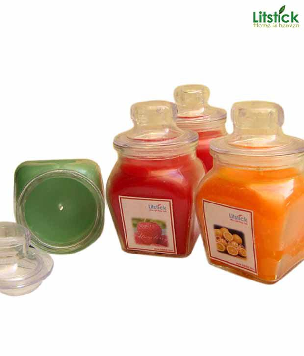 Litstick Glass Jar Perfumed Candle