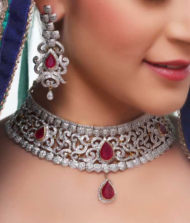 Karishma Sparkling American Diamond Bridal Set Buy