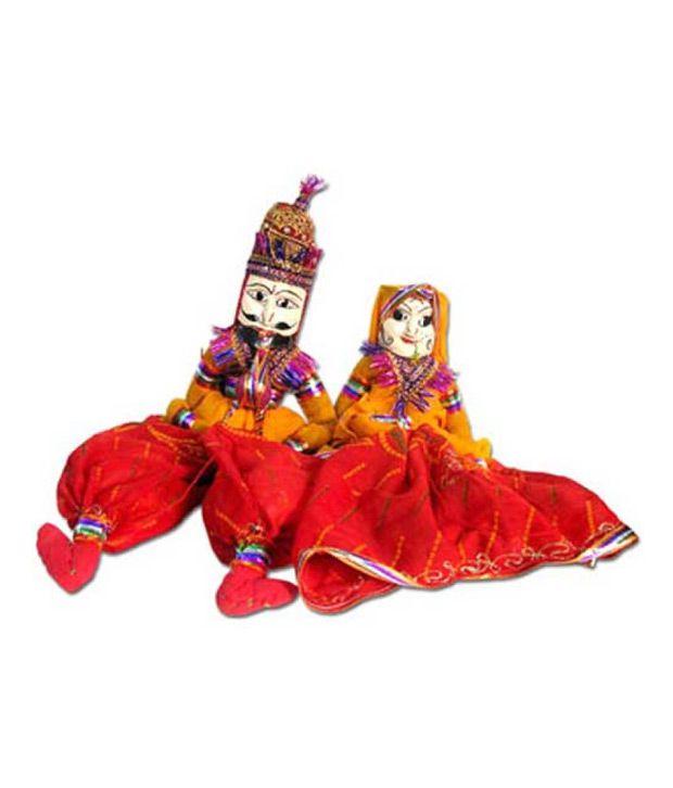 Heritage Toys -  Rajasthani Puppet Pair (Kathputli)