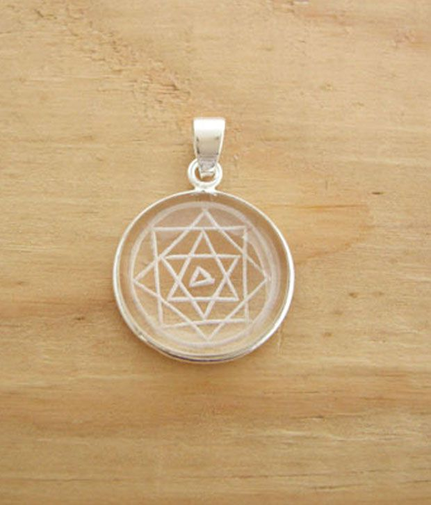 Designer Silver Sterling Silver Shree Yantra Pendant