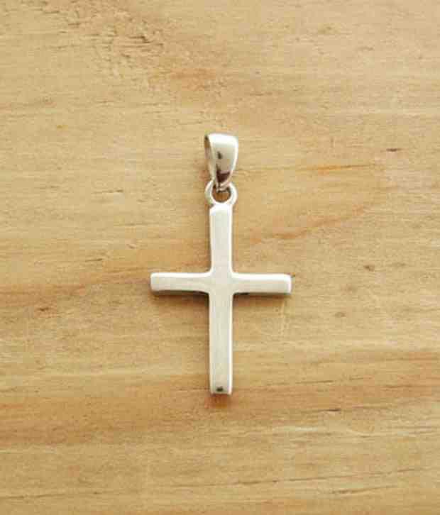 Designer Silver Sleek Sterling Silver Cross Pendant