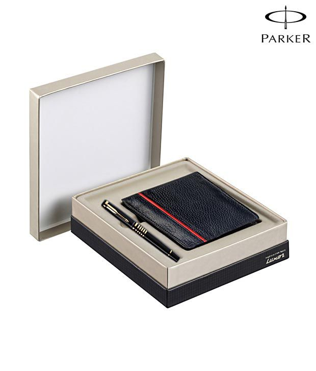Parker Ellipse Black GT Roller Ball Pen + Wallet Free