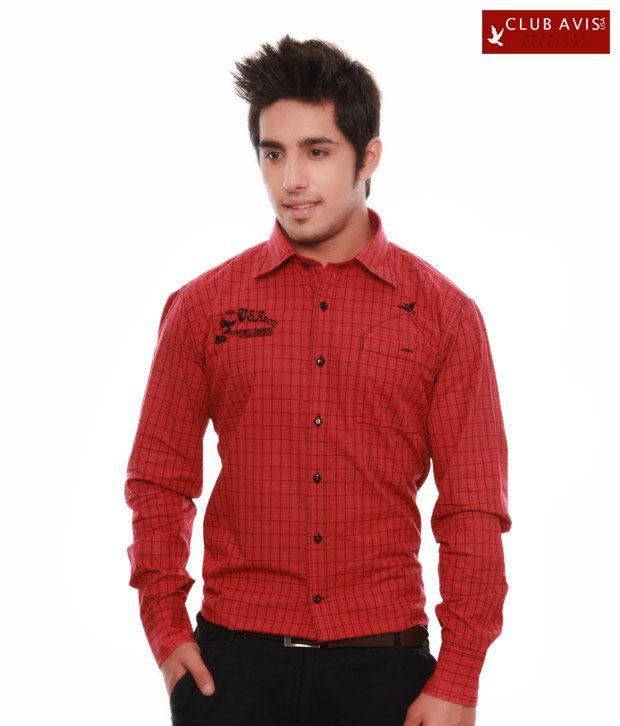 Club Avis USA Red Black Shirt