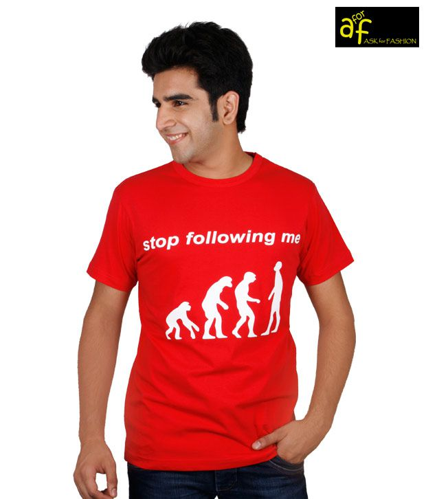 A for F Red Stop Following T-Shirt