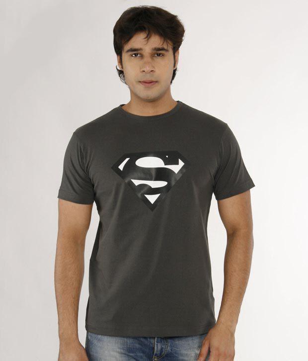 A for F Dark Grey Cotton Lycra T-Shirt