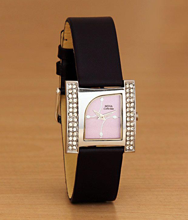 Nova Studs-n-Arch Pink Watch