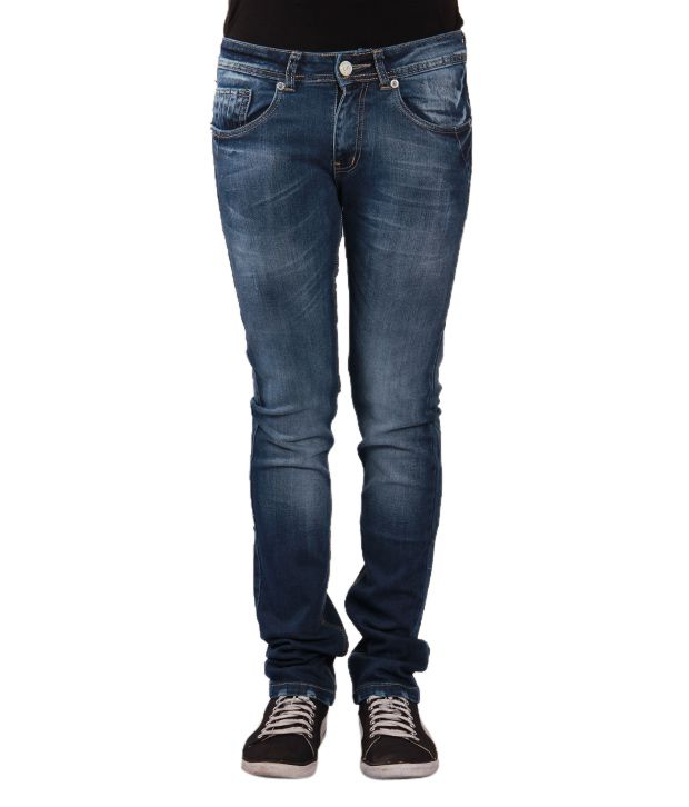 Urban Navy Trendy Blue Jeans