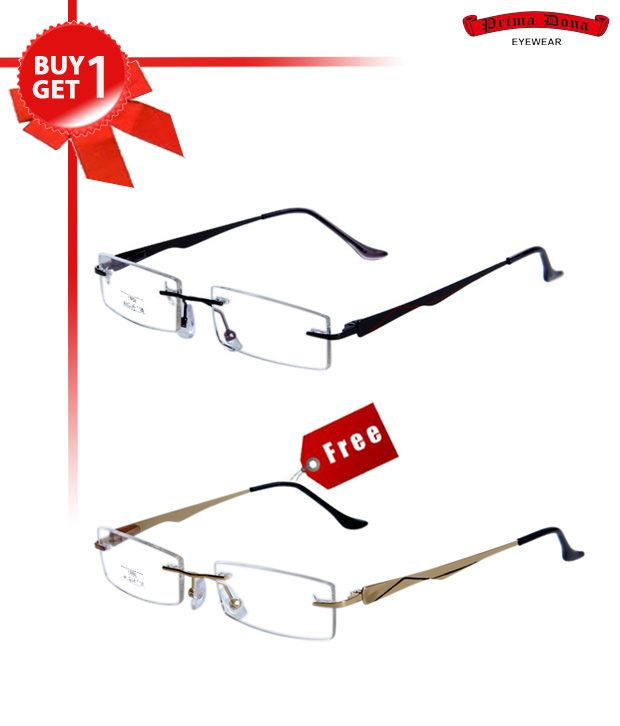 Prima Dona Enticing Gun Metal Buy 1 Get 1 Optical Frame