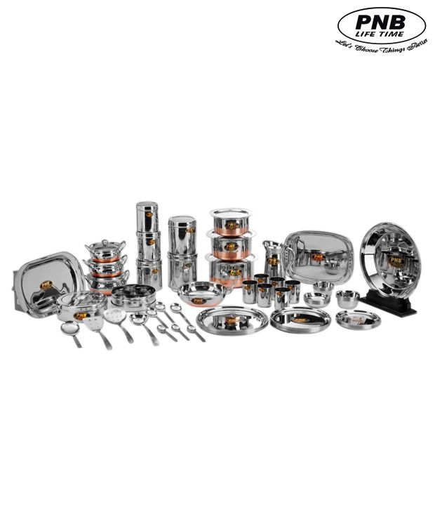 Pnb Classy 81 Pcs Dinner Set With 6 Free Katoris Buy Online At Best