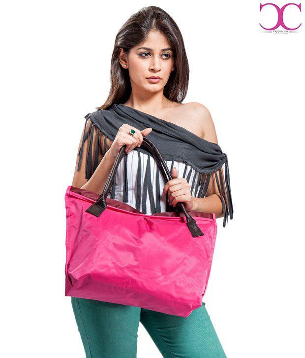 Cappucino Attractive Neon Pink Handbag