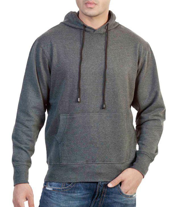 The Indian Garage Co. Grey Melange Hooded Sweat Shirt