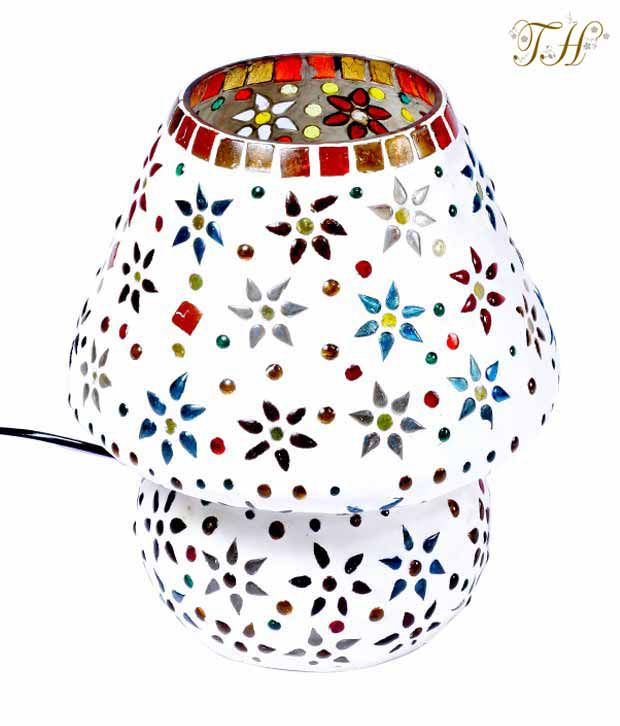 Treasure Hunt  Mosaic Flower Design Lamp