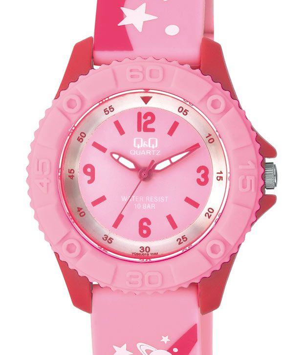 Q&Q Flamboyant Red Pink Watch