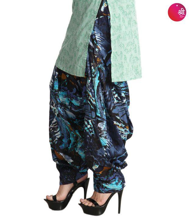 Shree Designer Navy Blue Patiala Salwar