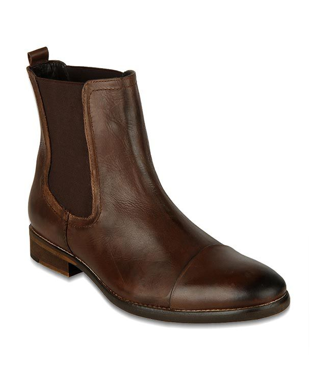 Phosphorus Chocolate Brown High Ankle Boots