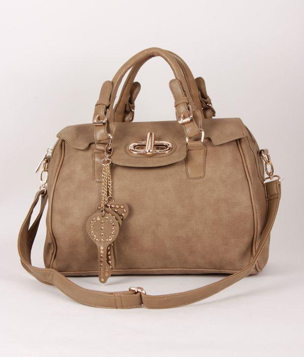 1 Bolzo Smart Light Brown Key Chain Design Handbag