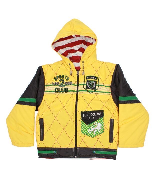 Fort Collins Yellow Hoodie Jacket For Kids