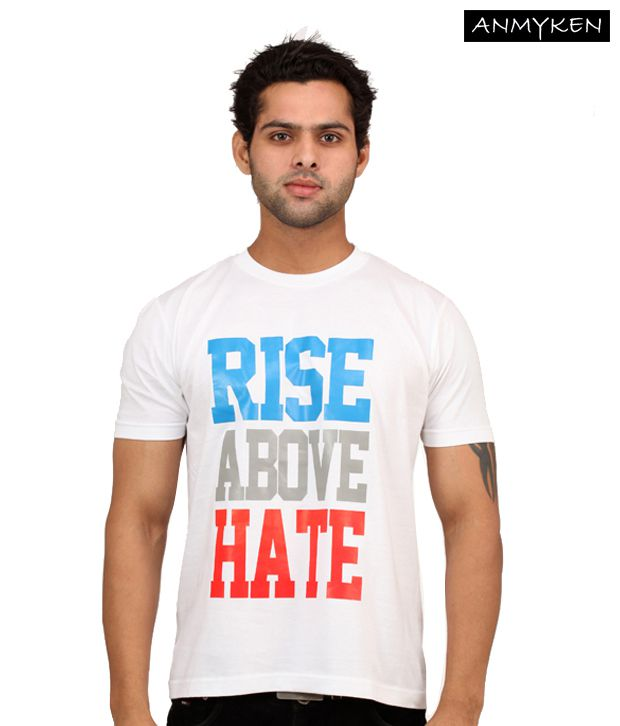 Johney B Rise Above Hate White T Shirt