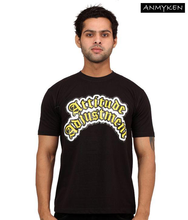 Johney B Attitude Adjustments Black T Shirt