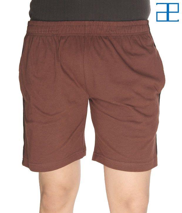 Adam n' eve Men's Coffee Brown Shorts