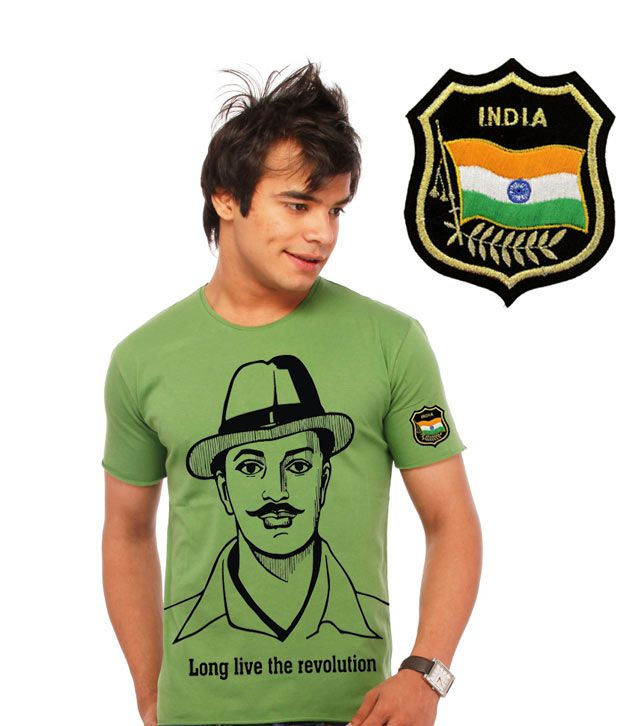 4e54f2011 Lanos Shaheed Bhagat Singh Freedom Fighter T-Shirt - Buy Lanos Shaheed Bhagat  Singh Freedom Fighter T-Shirt Online at Low Price - Snapdeal.com
