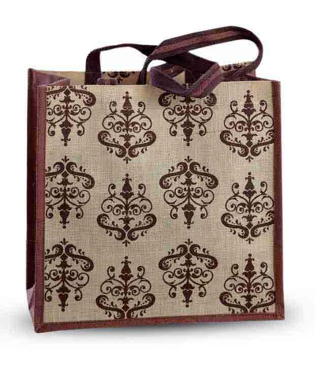 Aapno Rajasthan Maroon & Cream Ethnic Print Handbag