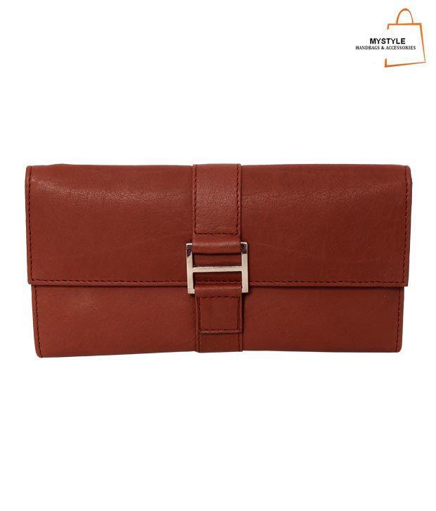 My Style Ravishing Brown Textured Finish Ladies Wallet