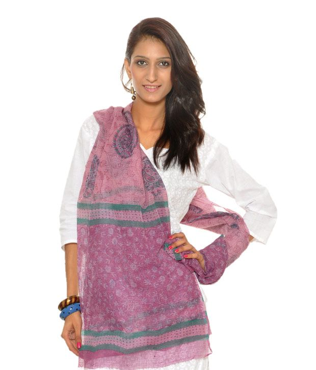 Abhiyuthan Designer Fuchsia Dupatta