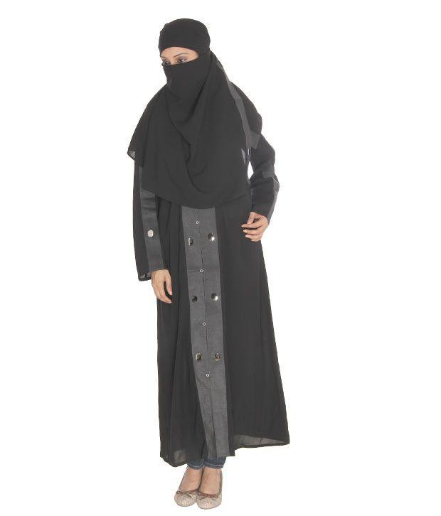 Sabiha Elegant Black Burqa With Hijab