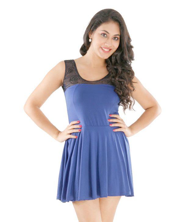 1 Love Blue & Brown Short Dress