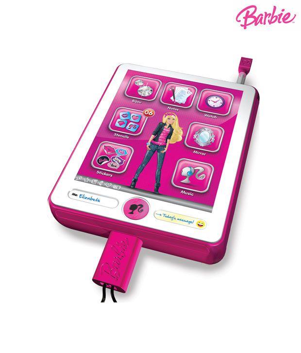 intek barbie b book pad interactive organiser buy intek barbie b