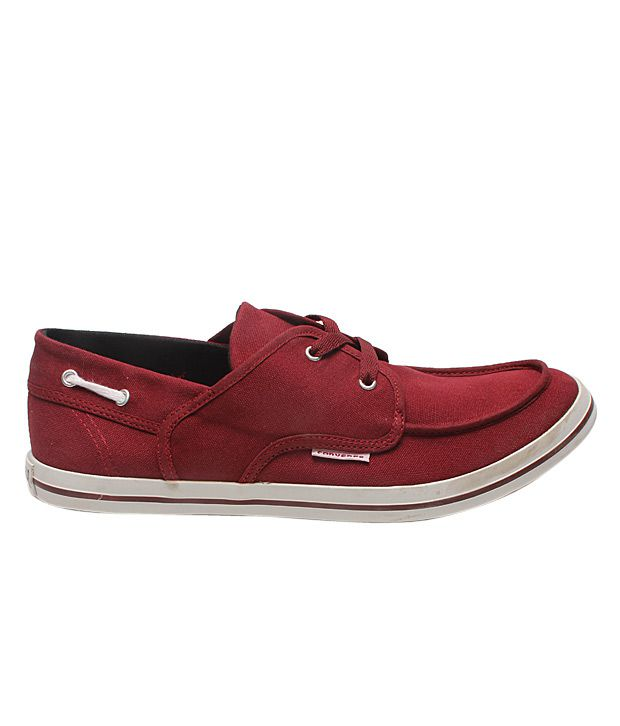 7f56275a4245 Converse Maroon Boat Style Shoes - Buy Converse Maroon Boat Style ...